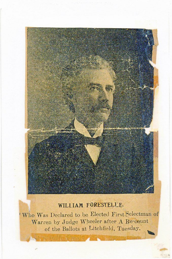 William Forestelle First Selectman of Warren CT